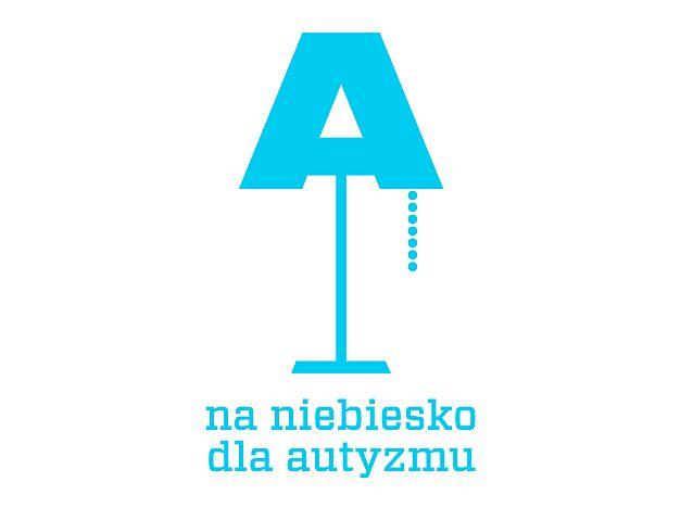 plakat z niebieską i prostą grafiką przedstawiającą lampkę
