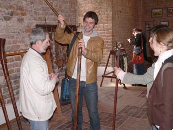 Na zakończenie warsztatów, studenci zwiedzili XIII-wieczny zamek krzyżacki w Gniewie